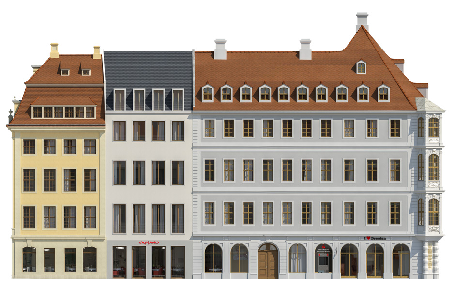 Architektur Fassade visualisierungen architektur jüdenhof dresden
